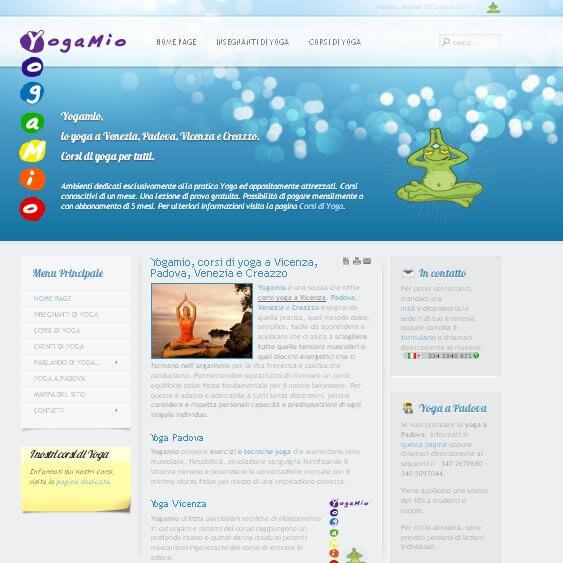 posizionamento nei motori di ricerca a venezia con il sito YogaMio