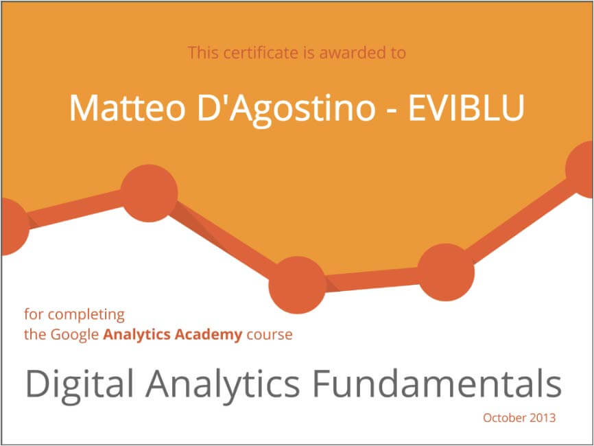 digital analytics-certificate