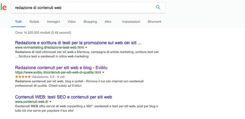 stelline su google
