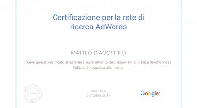 Eviblu Agenzia di Schio Certificata Google AdWords