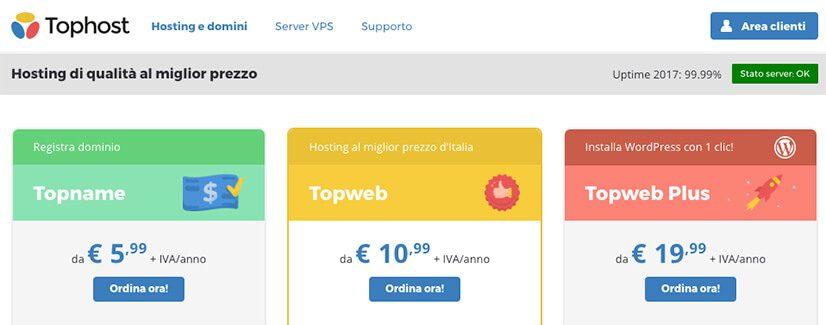 hosting italiano qualita prezzo