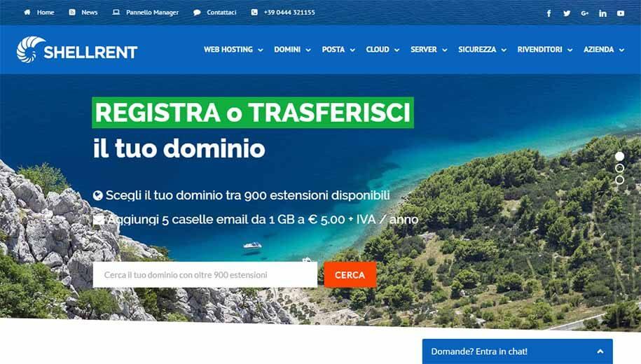 migliori hosting italia shellrnet