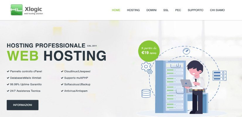 web hosting italy