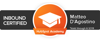 certificato inbound marketing HubSpot