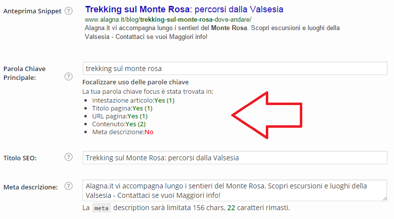 Screenshot SEO by Yoast