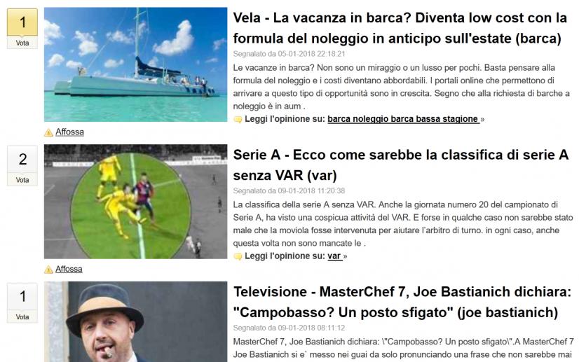 Il sito diggita, uno dei portali dove pubblicare articoli gratis