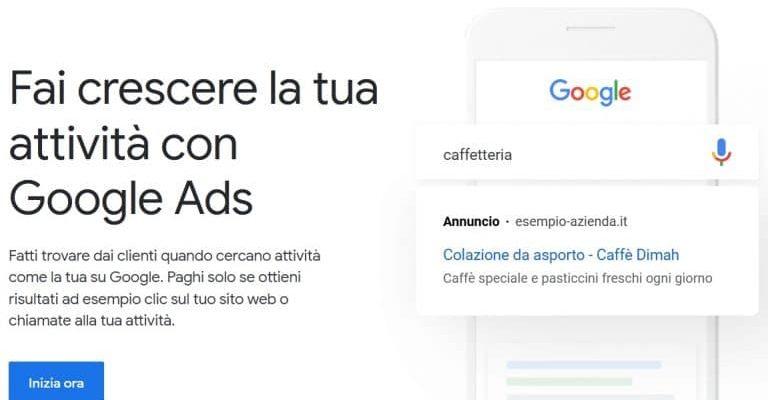 pubblicità su google ads adwords