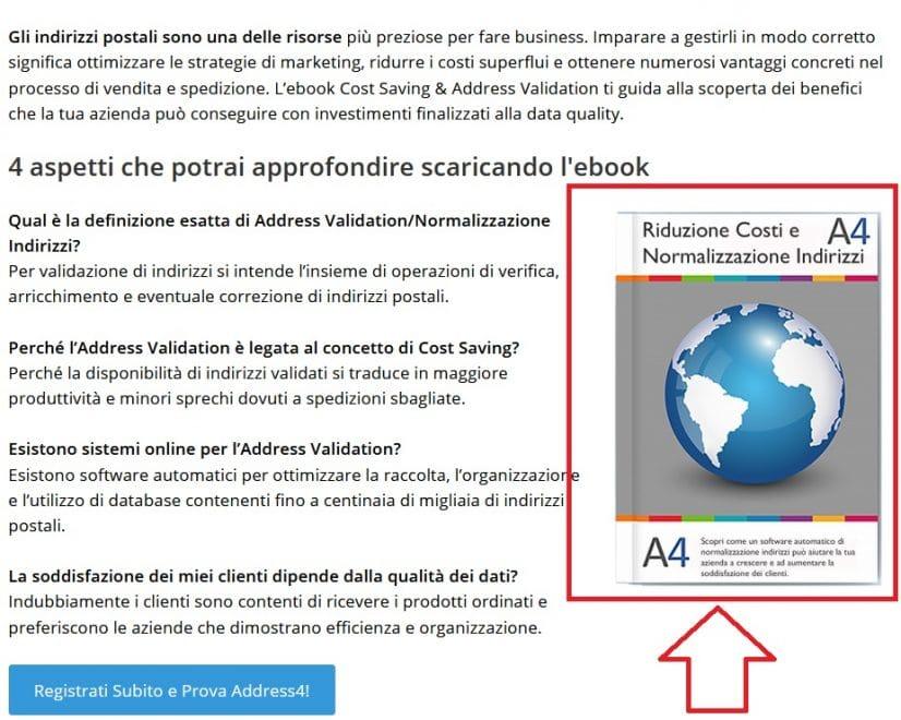 Esempio di ebook Address4